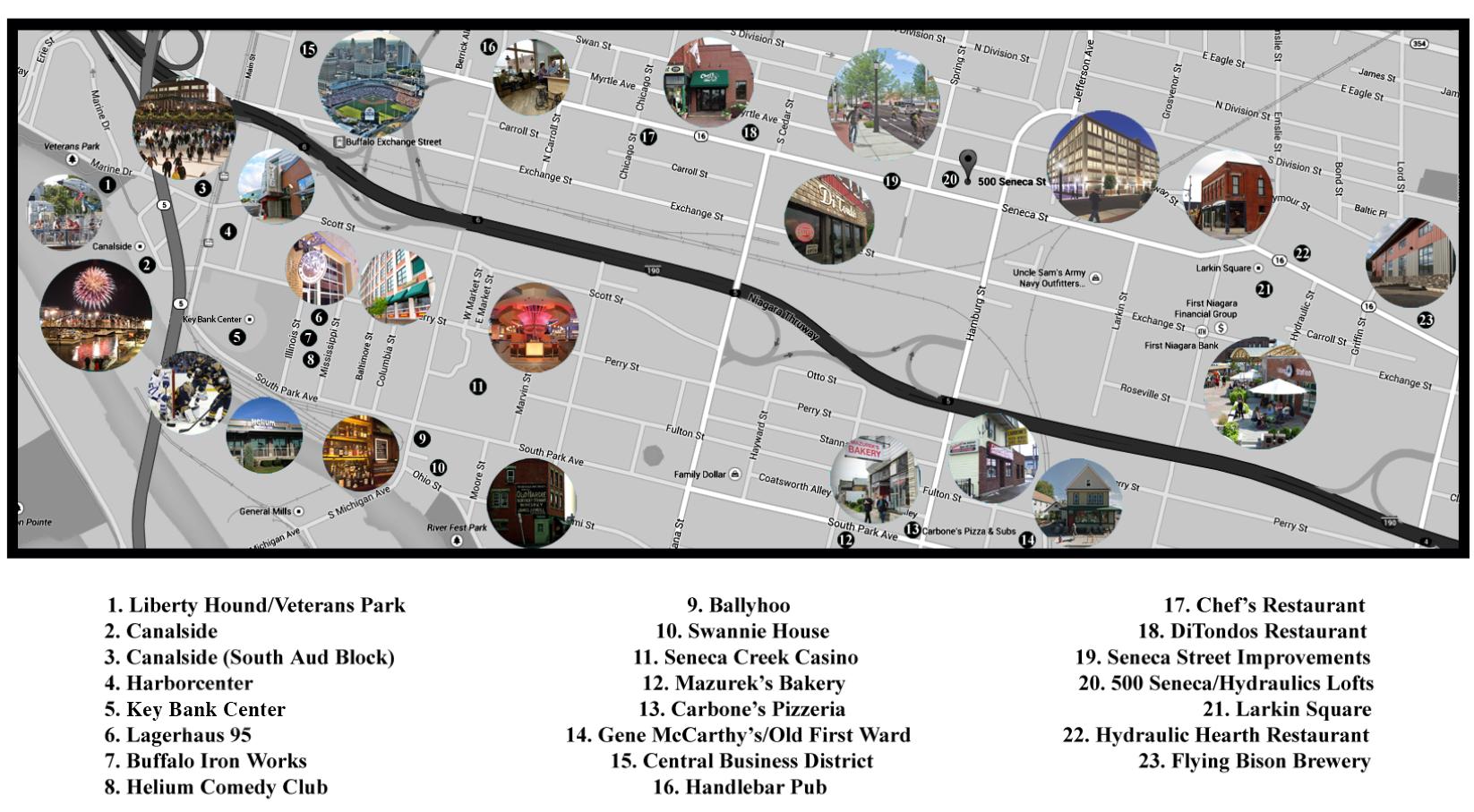 500 Seneca Community Map